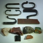 A small selection of fire steels & salacious rocks.REDUCED.JPG